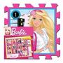 Piso De Goma Rayuela Barbie 9 Piezas Encastrables