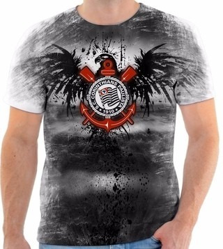 Camiseta Camisa Blusa Personalizada Estampa Corinthians 002 - R  60 ... 3e211136867eb