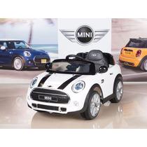 Carrito Electrico Montable Mini Cooper 2017 Blanco