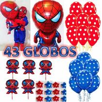 43 Globos Spiderman,hombre Araña,centro De Mesa, Avenger