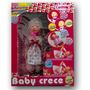 Muñeca Baby Crece Cariñito Con Mamadera Bebe