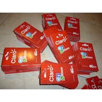 Paquete 20 Sim Claro 4g Precio Distribuidor Saldo Inicial