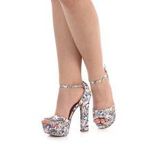 Sandália Salto Feminina Lara - Estampado