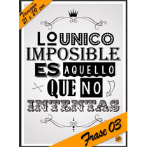 Laminas Autoadhesivas - Frase #03 - 21 X 29 Cm - Precio 2 X