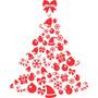 Adesivo Decorativo De Parede - Árvore De Natal 2 Branco