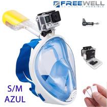Gopro Mascara Snorkel Easybreath Buceo Sj4000 (s/m Azul)