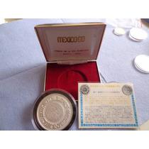 Medalla Conmemorativa Olimpiadas Mexico 68 Plata .925