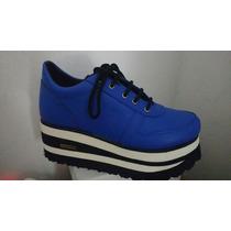 Zapatillas Sneakers Base Goma Eva Alta Nuevos Modelos