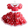 Fantasia Minnie Vestido Vermelho Tamanho 4 Anos