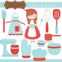 Kit Imprimible Cocina 3 Imagenes Clipart