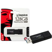 Pen Drive Usb 3.0 Kingston Dt100g3/128gb Datatraveler 100 1