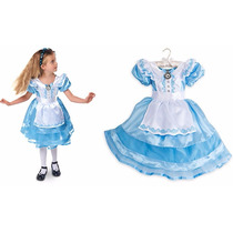 Vestido Fantasia Alice Pais Das Maravilhas Disney Store T=4