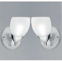 02 Un. Arandela Interna Lavabo Banheiro Quarto Turin Vidro