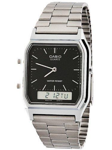 Reloj Casio Para Hombre Aq-230a-1d Tablero Plateado Y Negro -   1 07ae9f273ec3