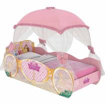 Cama Infantil Princesas Carruagem Star Com Dossel - Pura Mag