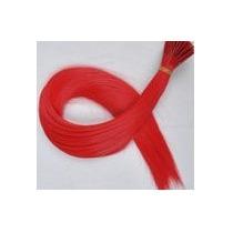Mecha Coloridas Aplique 40cm - Vermelho - Frete Fixo R$6,00