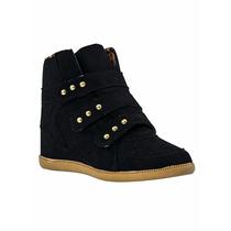 Calçado Tenis Bota Botinha Sneaker Aplique Spike Preto