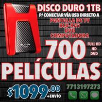 Disco Duro 1tb 725 Películas Hd Y Dvd Español Latino