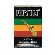 Palheta Sax Alto N°2,5 Riyin Caixa Com 10 Palhetas Promoção