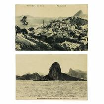 2 Cartões Postais Tipográficos Antigos