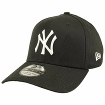 Boné Aba Curva Preto New Ny Yankees Fechado Tamanho Médio