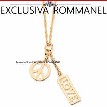 Rommanel Pingente Berloques Símbolo Paz Folheado Ouro 541574