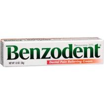 Benzodent Para Aliviar El Dolor Dental Crema Al 1 Oz (pack D