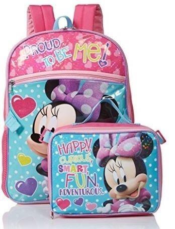195ba1ade Mochila E Lancheira Minnie Disney - R  199