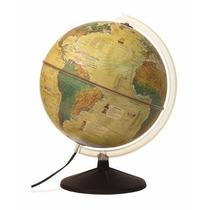 Globo Mapa Mundi Histórico Iluminado Terrestre Abajur 30cm