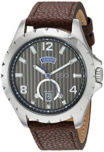 8d13106b3c98 Reloj Informal De Acero Inoxidable Y Cuero De Cuarzo Esq Pa -   446.396 en  Mercado Libre