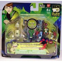 Ben 10 Alien Creación Cámara Mini Figura 2pack Upchuck Y Go