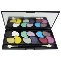 Kit Maquiagem Estojinho Paleta12 Sombras 3d Pincel Any Color