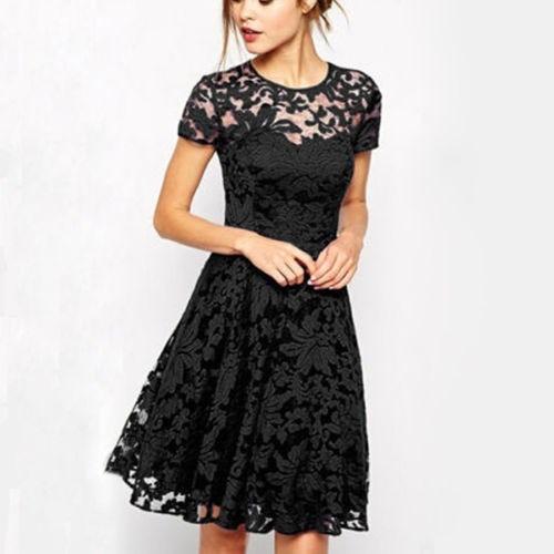 c52ebca808197 Vestido Encaje Negro Diseño Floral -   22.970 en Mercado Libre