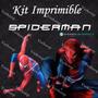 Kit Imprimible Spiderman El Hombre Araña Invitaciones Fiesta