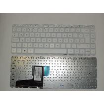 Teclado Hp 14-n 240 G2 245 G3 14-g000 14-r002la Blanco