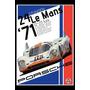 Carteles Antiguos Chapa 60x40cm Porsche 24hs Lemans Au-316