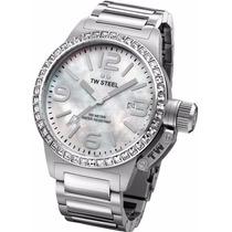 Reloj Tw Steel Acero Perla Swarovski Mujer Tw302