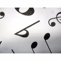 Tnt Estampado - Decorado - 10mts Mod. Notas Musicais