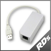 Lan Red Internet Adapter Adaptador Usb Wii U Pc Lag