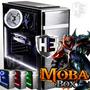LED Vermelho - Delta Moba Box V7S - Pc Gamer Intel i7 7700 - Geforce GTX 1050 Ti 4GB - 8GB DDR4 - HD 1TB - H110M - 500W PFC 80 Plus - Gabinete Gamer - Moba Box - Desktop - Barato - PC Game - Novo CPU Completa