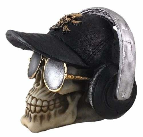 d512ab17cc92b Kit Com 2 Cranios Caveira Ray Ban Bone Fone De Ouvido Resina - R  75 ...