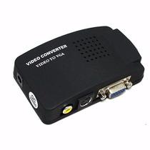 Conversor De Video Rca S-video P/ Vga Tv Av Ps2 P/ Monitor