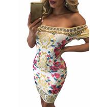 Moda Sexy Mini Vestido Strapless Estampado Colores Floral