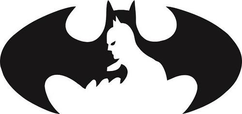 Adesivo Decorativo De Parede Batman Rosto E Simbolo Grande