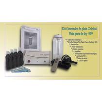 Kit Plata Coloidal, Desintoxicador Ionico Agua De Plata Col