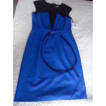 Vestido Corto Azul Calvin Klein Talla 8