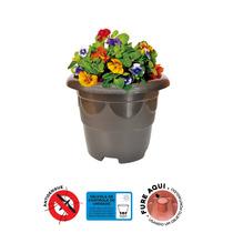 Vaso Plastico 08 Litros - 06 Unidades - Preto - 0,30x0,24cm
