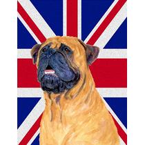 Bullmastiff Con Inglés Union Jack Británica Bandera De La
