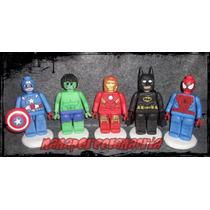 Adorno Para Torta Heroes Lego En Porcelana Fría