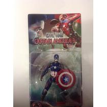 Kit Com 2 Bonecos Capitão América / Homem Aranha